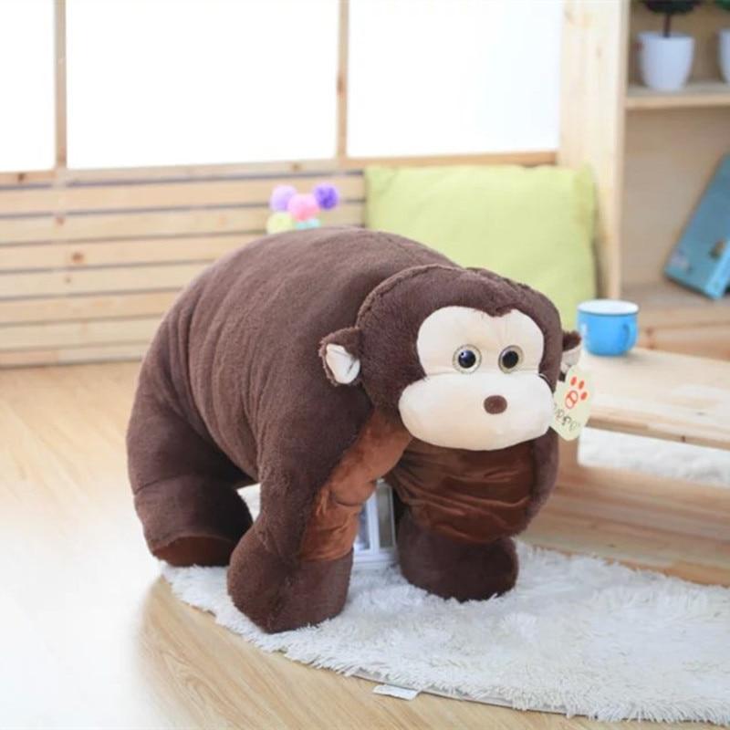 ФОТО New Arrived Multifunction Monkey and Elephant Doll  Monkey Plusjh Toy Elephant Soft Stuffed  Pillow 1pc Big size