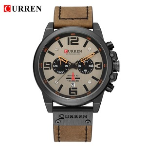 Image 5 - New 2019 Men Watch CURREN Top Brand Luxury Mens Quartz Wristwatches Male Leather Military Date Sport Watches Relogio Masculino