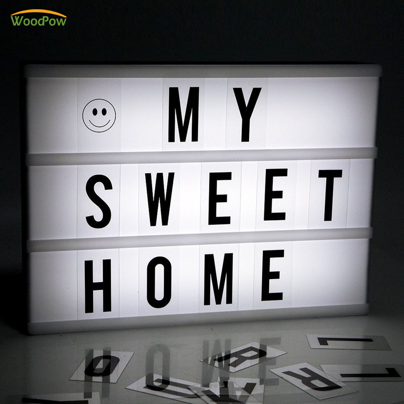 WoodPow A4 A5 A6 Size LED Combination Night Light Box Night Lamp DIY Letters Cards USB Port Battery Powered Cinema LightboxWoodPow A4 A5 A6 Size LED Combination Night Light Box Night Lamp DIY Letters Cards USB Port Battery Powered Cinema Lightbox