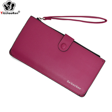 Brand Leather Wallet Fashion Womens Wallets and Purses Hasp Simple Wallet Business Card Holder Purse Money Bag Coin Pocket 2019 amazing designer simple wallet women purse long wallet card holders bag carteras famous brand womens wallets and purses lucky