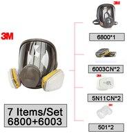 3 м 6800 + 6003 Полный лицевой элемент многоразовый противогаз фильтр Защитная маска респираторный органический пар и кислота газ OV/HD/HC/CL/HS LT021