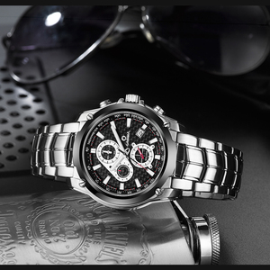 Image 4 - CASIMA Mens Chronograp ספורט שעון אופנה 100M עמיד למים צולל צבאי קוורץ שעון יד שעון גברים saat Relogio Masculino