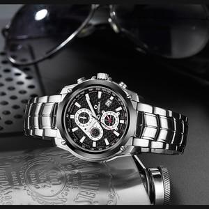 Image 4 - CASIMA Mens Chronograp Sport Watch Fashion 100M Waterproof Diver Military Quartz Wrist Watch Clock Men saat Relogio Masculino