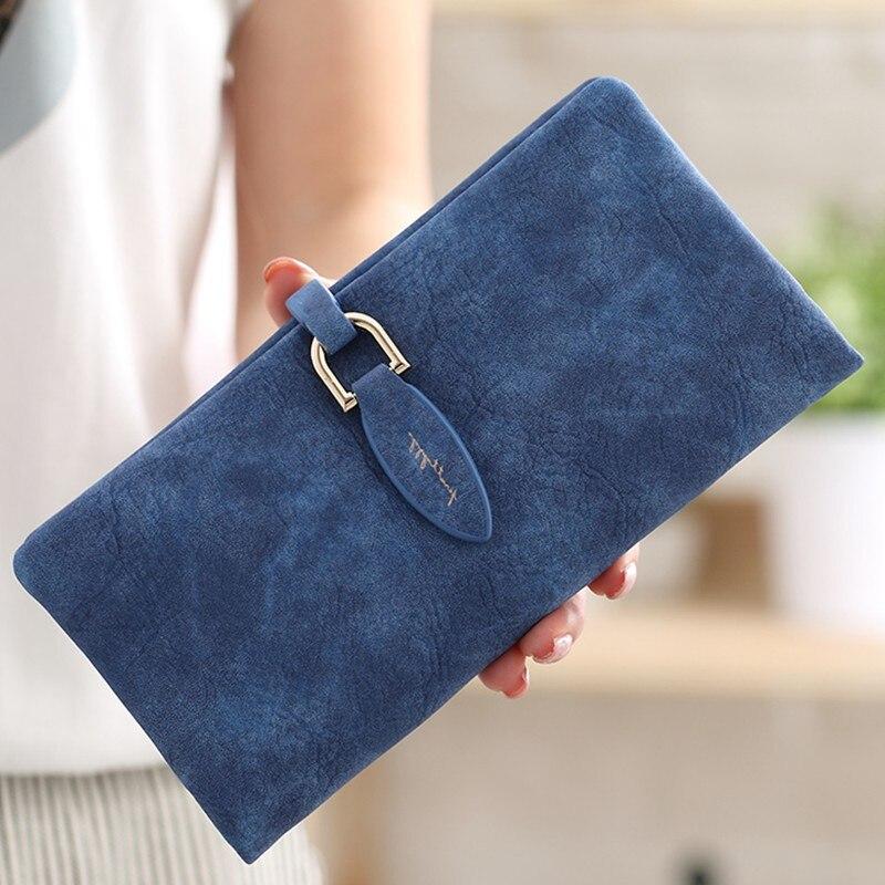 2019 Women Wallet Card Holder Female Wallet Women's Hasp Purse Coin Purse Card Holder Wristlet Money Long Bag More Color Clutch