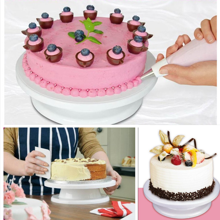 2016 DIY Cake Decoration Turntable Manually Rotating Cake Turntable Round Shaped Cake Mounting Pattern Tool