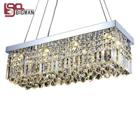 Hot Sales Modern Design Rectangular Crystal Chandelier Dinning Room Light Fixtures