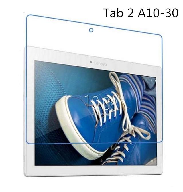 9H karastatud klaasi ekraani kaitsekile Lenovo Tab 2 A10 30 A10-30 X30F X30L + alkoholi lapiga + tolmuimeja