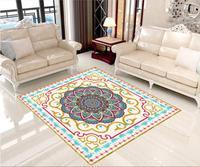 3 d pvc flooring custom waterproof The carpet pattern spelling a flower 3d bathroom flooring photo wallpaper for walls 3d