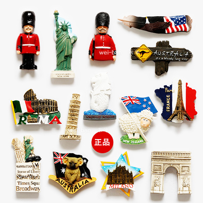 A lot)Travel souvenirs around the world r fridge magnet Message ...
