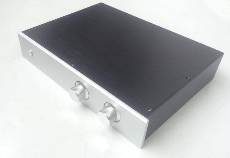 NEW Full aluminum 4308- combined amplifier chassis - preamp chassis with vu meter chassis breeze audio aluminum chassis 4308 preamp aluminum enclosure