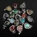 Free Shipping 16MM Mix-Stone Pendant Amethyst Lapis Lazuli Carnelian Turquoise Onyx Jasper Opal Agate Round Bead Dragon Pendant