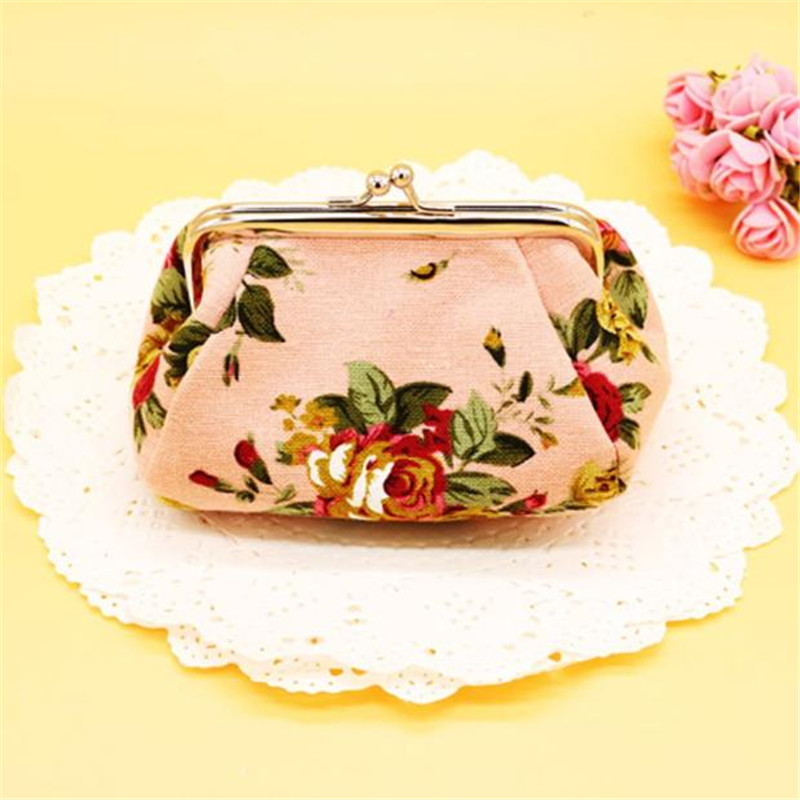 2017 fashion Brand new Lovely flower print Canvas Hasp Coin Purses Small for Women Wallets Clutch Bag women purse free shipping 2017 fashion brand new lovely flower print canvas hasp coin purses small for women wallets clutch bag women purse free shipping