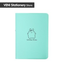 Green practical Cute Rabbit 2018 Diary Kawaii Calendar Planner 2018 2019 Program Notebook Notepad Pocket Journal Gift School