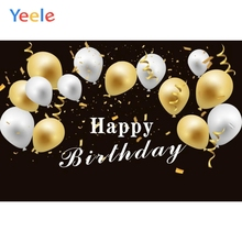 Yeele Baby Children Birthday Portrait Balloons Ribbon Photography Backgrounds Customized Photographic Backdrops For Photo Studio