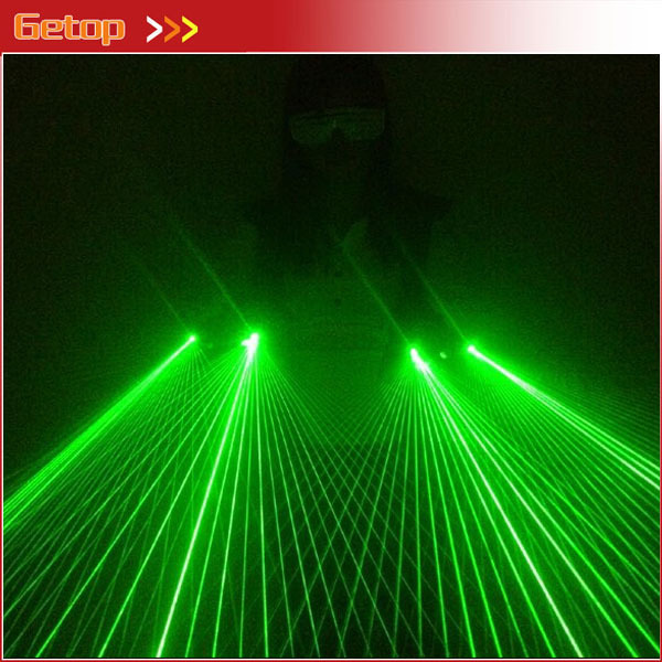 Strong Green Laser Glove 40pcs green lasers hot sell DJ party green laser glove Event & Party Supplies 100 beams multiple beam lasers gloves green 532nm laser module lazer diode dj disco green laser glove event