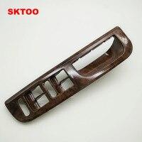 Sktoo الماهوجني داخل باب مقبض الدرابزين هزة 1GD الزخرفية تغطية ل vw passat b5 867 171