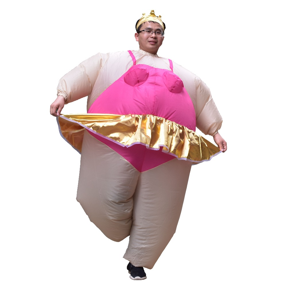 Adult Inflatable Ballet Costume Carnival Purim Halloween Party Inflatable Costume Ballerina Cosplay Fancy Dress for Women Men