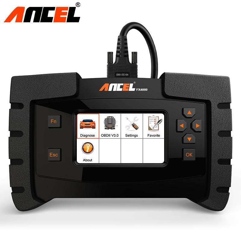 Ансель FX4000 OBD OBD2 полный Системы инструмент диагностики ABS Airbag SAS EPB передачи сканирования Универсальный Автомобильный сканер