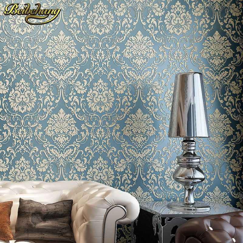 Beibehang Luxury Damask Wallpaper For Walls 3 D Background Wall Wallpaper Classic Wall Paper Home Decor For Living Room Flooring