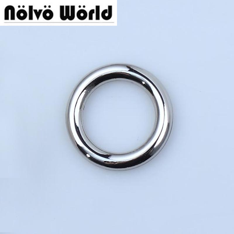 50pcs Inside 5/8 Inch 17mm Polished Silver O Rings,DIY Accessory Alloy Metal Round Edge Welded O Rings