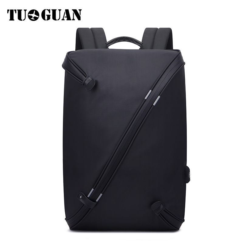 TUGUAN Famous Brand Men Waterproof Backpack USB Charging Anti Theft Back Pack 15.6 Inches Laptop Bag Schoolbag Computer Bagpack