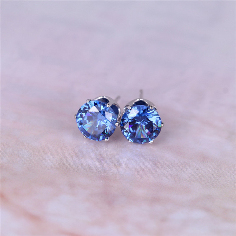 Luxury brand jewelry Austrian crystal earrings for women stud earrings for girls gift Two pairs of Gold  Silver