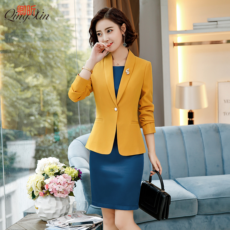 Tempérament Professionnel Pants Féminin Pants coats coats Costume Dames Femmes col Pièces Jacket Dress Petit jacket Ensembles De Blanc Dress Deux Mode Dress Porter jacket 2018 q0YqFBw