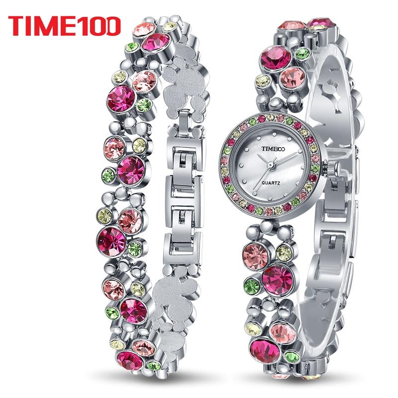TIME100 Women Bracelet Watches Quartz Waches Colorful ...