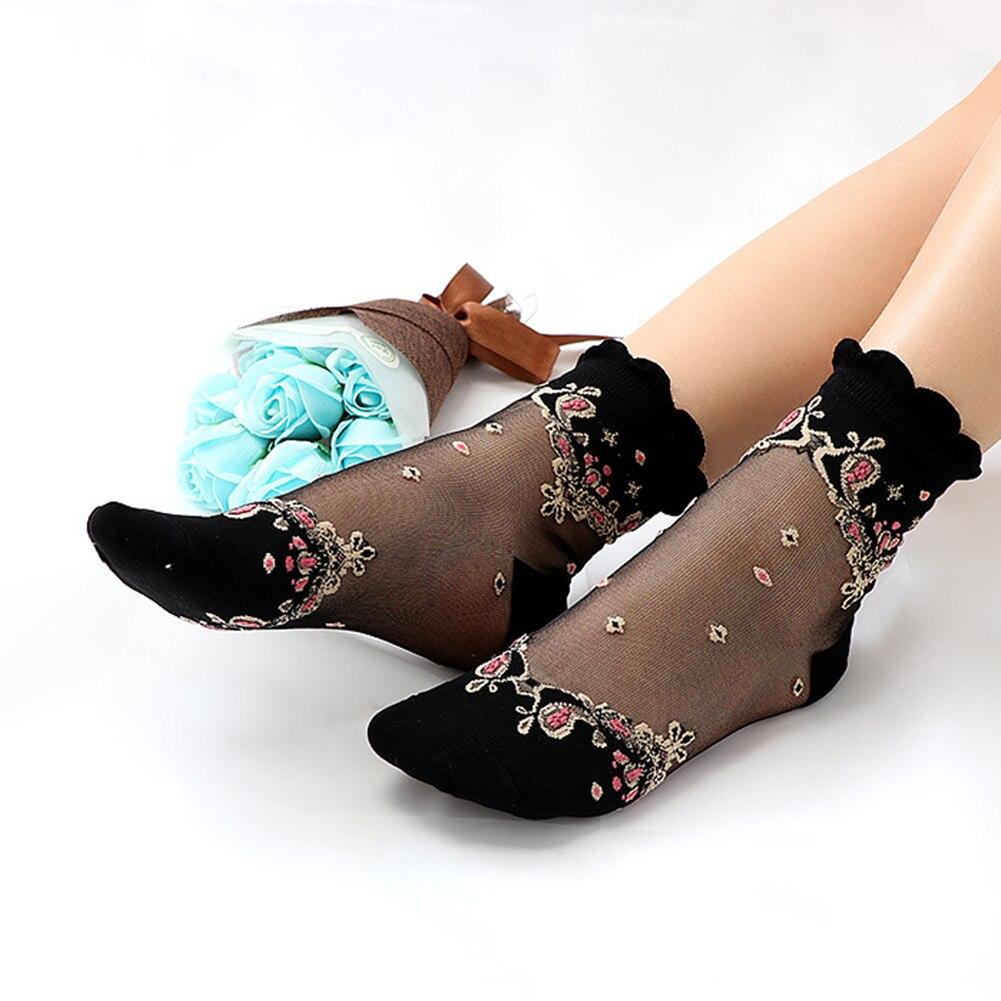 HTB17HR8N3TqK1RjSZPhq6xfOFXaj - Mesh Flowers Summer Super Thin Retro Comfortable Women Socks