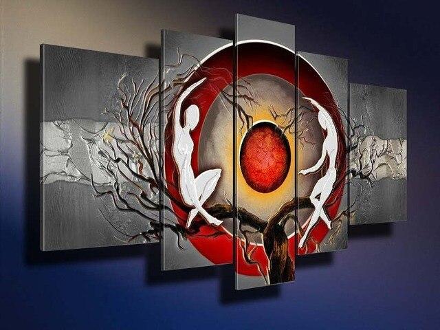 Livraison Gratuite Peint  La Main Abstraite Moderne Arbre Tordu