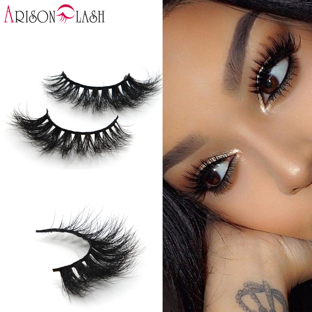24ae38b9890 Arison Lash 3D Full Strip Lashes 100% Real Siberian Mink Strip Eyelashes 3D  Mink False Eyelashes Arison Lashes0011 Free Shipping