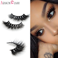 Lilly Miami 3D Completo Strip Lashes 100% Real Siberiano piel de Visón Pestañas Falsas Mink Strip Pestañas 3D Arison Lashes0011 Envío Gratis