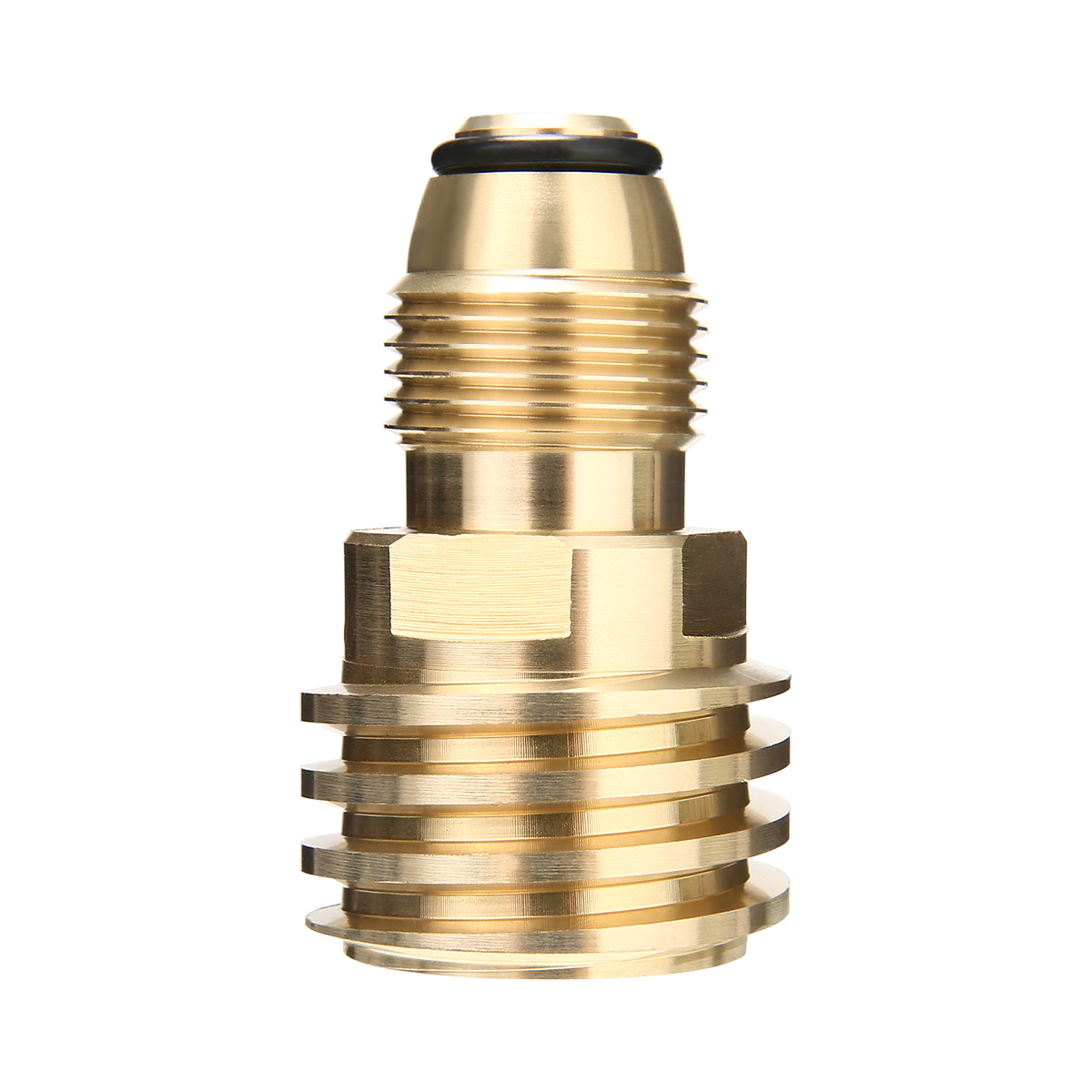 Type 1 Converts Propane LP TANK POL Service Valve to QCC Outlet Brass Adapter