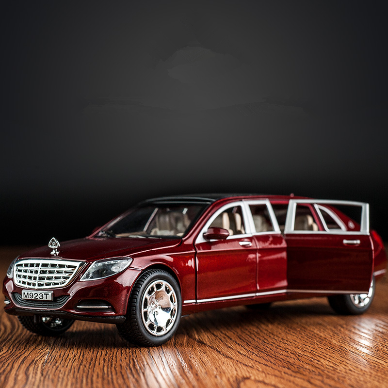 KIDAMI 1 24 Maybach Alloy Car Model Simulation Model Toys For Children sound and light pull back Toy Car Gifts hotwheels in Diecasts Toy Vehicles from Toys Hobbies