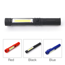 New LED Mini Pen Multifunction led Torch light cob Handle work flashlight cob Work Hand Torch