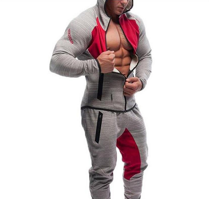 2016 Hombres Casual Sudaderas Con Capucha Ropa de Marca de Fitness - Ropa de hombre