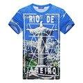 2016 New Brand Men's Casual Fashion 3D Printed T-shirts Hip Hop Camisetas T-shirt Short Sleeve Streetwear Jesus Tshirt Plus Size