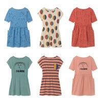 BBK Pre Sale Bobo Choses JANA Letter Girl Princess Dress Summer Dresses Casual For Girls 100