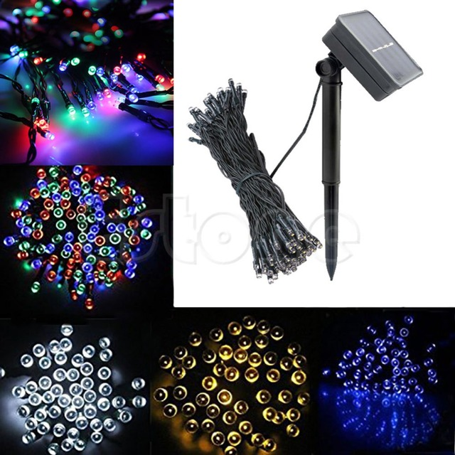 100 Led Solar Power Fairy Light String Lamp Party Halloween Xmas Deco Outdoor