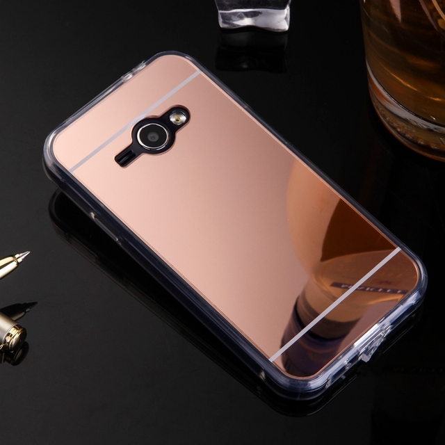 uk availability 2467f 8ad73 US $3.3 33% OFF|Rose Gold Phone Cases For Samsung Galaxy J1 Ace Mirror Case  Soft TPU Back Cover Case For Galaxy J110 Cell Phone Shell Capinhas *-in ...