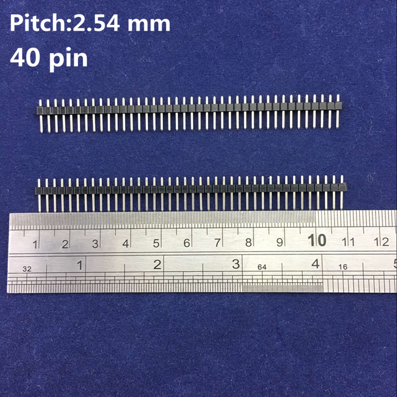 High Quality 1*40 pin 2.54 mm Copper Straight Needle Single Row Male Breakable Pin Header