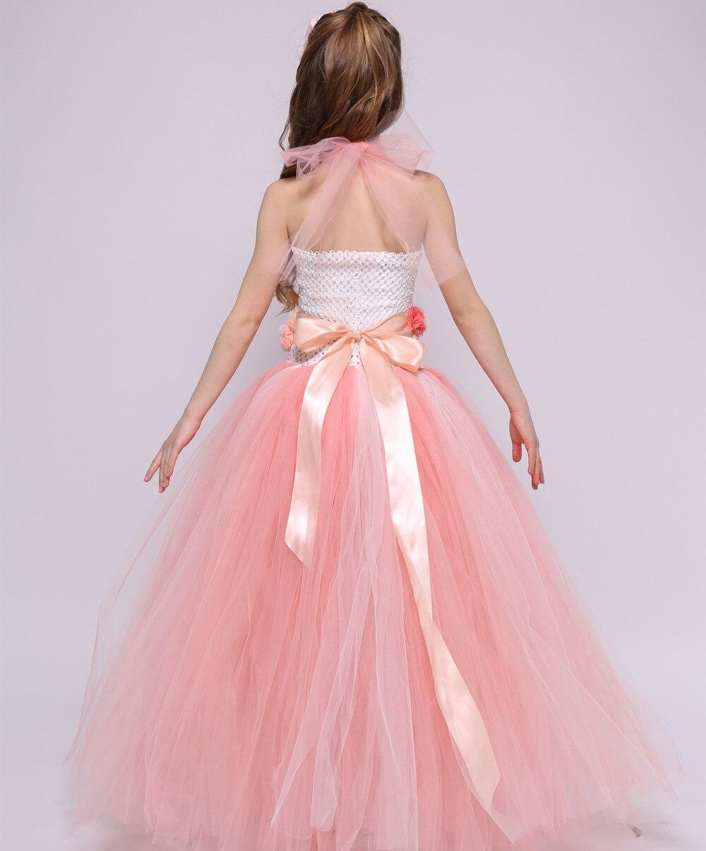 3d0630c78d98 Vestidos de niña vestido infantil 2018 Rosa verano niños ropa para niñas 3  9 años princesa fiesta vestidos de novia en Vestidos de Madre y niños en ...
