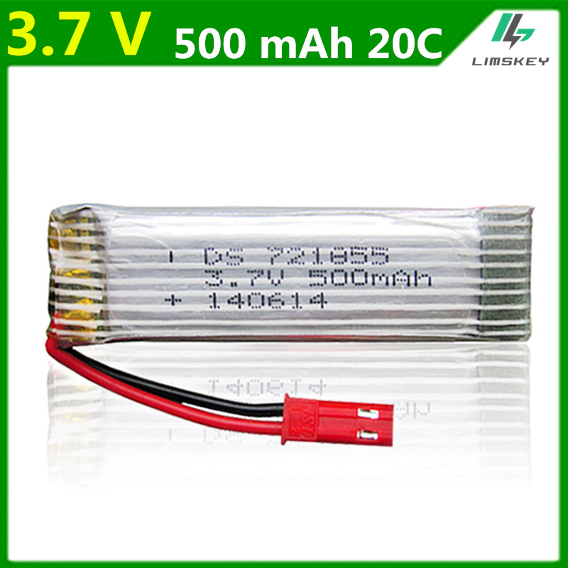 3.7V <font><b>500mAh</b></font> Lipo <font><b>battery</b></font> For Udi U815A U818A WLtoy V959 V929 Syma S032G Lipo <font><b>Battery</b></font> <font><b>3.7</b></font> V 500 mah JST plug 20PCS/LOT image