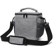 Waterproof Functional Sling Cross-body Bag For Digital Products Canvas Photography SLR Camera Bag Cover 7514 For Canon Nikon(China)