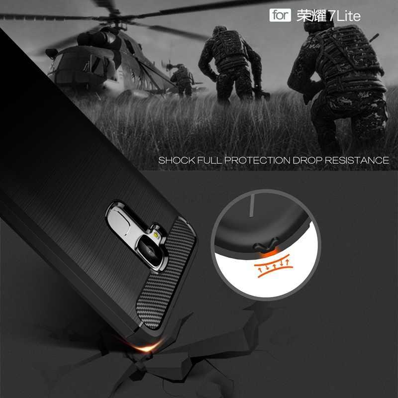 UPaitou чехол для Huawei Honor 7 Lite ультра тонкий чехол из углеродного волокна устойчивый к царапинам мягкий чехол для Honor 7 Lite/5C