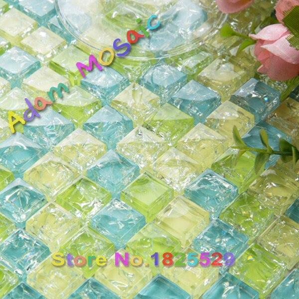 Aliexpress.com : buy blue green glass tile shower wall mirror ...