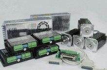 4 ejes Nema23 stepper motor $ number oz-+ 4 Controlador Paso A Paso 4.2A DQ542MA2 UNIDADES de Energía de Alimentación para 350 W, 36VDC 1 DB25CNC kit del controlador