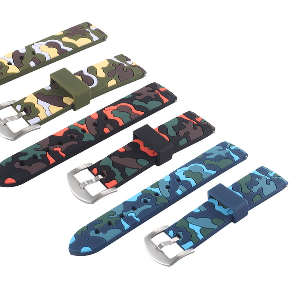 22mm Camouflage soft silicone Band For samsung galaxy gear s3 frontier Replaceable Bracelet Strap For Samsung S3 classic pvc waterproof bag w arm band strap for samsung galaxy i9300 i9500 camouflage blue black