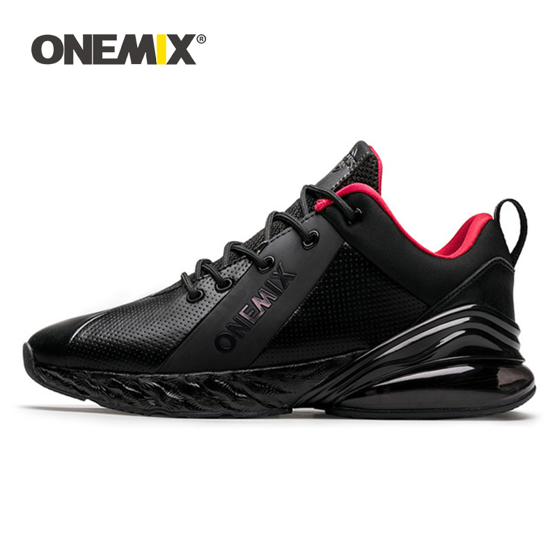 ONEMIX Winter Sneakers For Men Running Shoe For Women Outdoor Jogging Shoes Shock Absorption Cushion Soft Midsole Leather Shoes