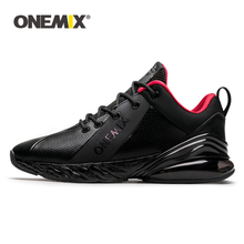 Купить с кэшбэком ONEMIX Winter Sneakers For Men Running Shoe For Women Outdoor Jogging Shoes Shock Absorption Cushion Soft Midsole Leather Shoes